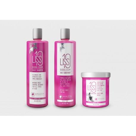 Zestaw Pielęgnacyjny LISS 10 BUBBLEGUM  (szampon, odżywka i maska 473 ml)